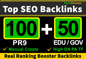 I will Do Top 100 PR9 & 50 EDU GOV High Authority Backlinks, Real Ranking Booster