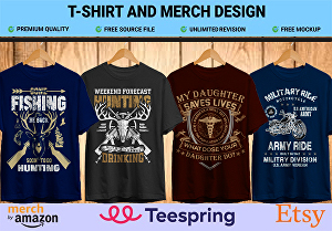 I will create custom typography and graphic t-shirt design
