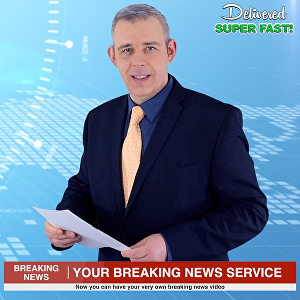 I will be your professional video spokesperson in a breaking news video promotion